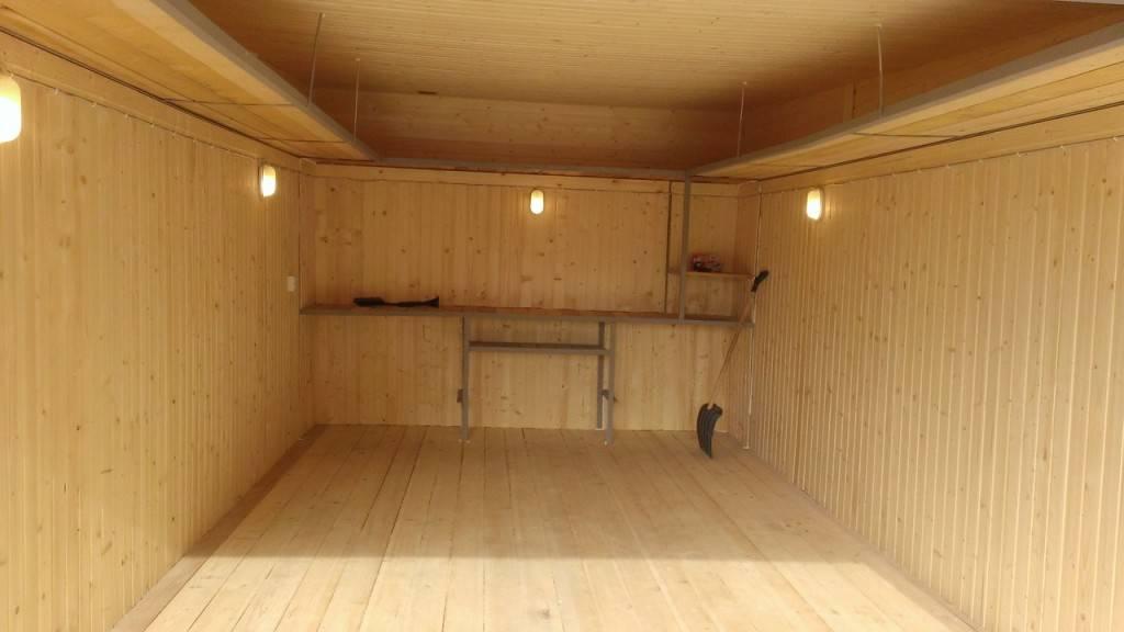 Как обшить гараж вагонкой