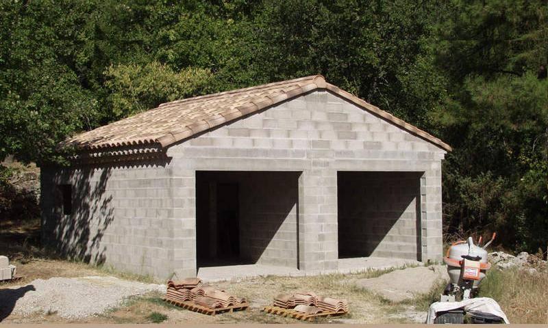 Блочный гараж