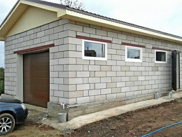 Построить гараж из пеноблоков своими руками цена расчет