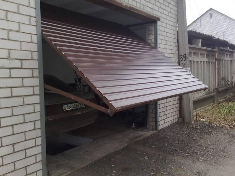 Самодельные подъемные ворота в гараж