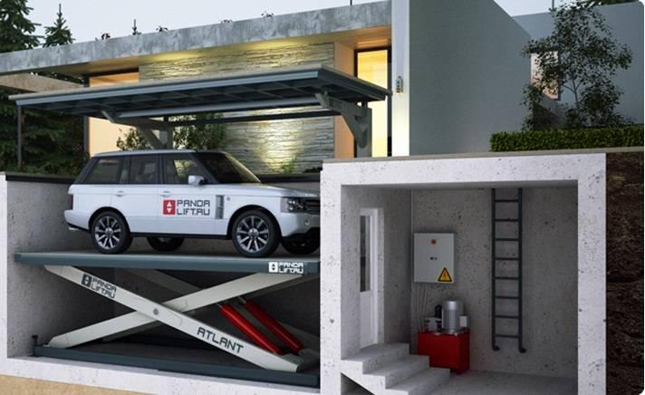Подъемный гараж