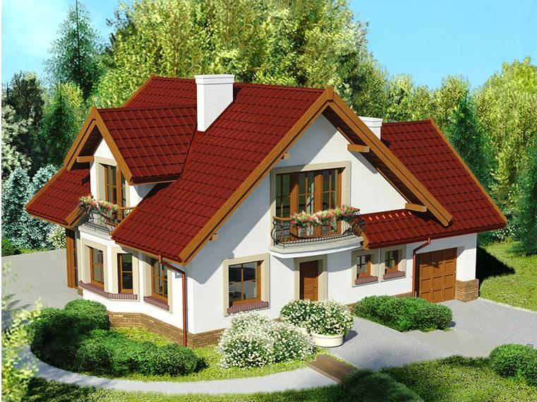 Выстроен красивый дом