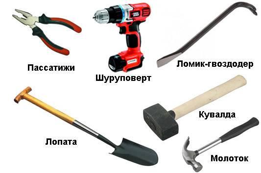 Инструменты для постройки фундамента