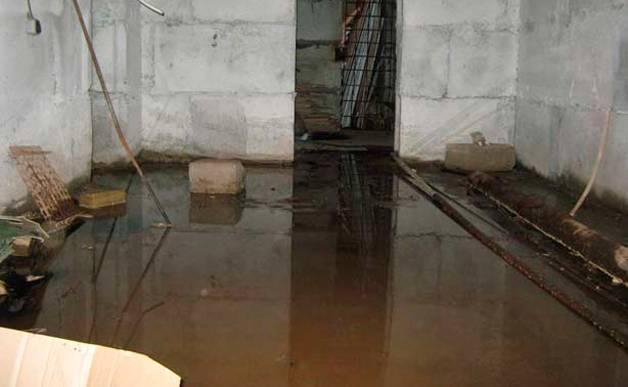 Затопленный подвал требует срочным мер