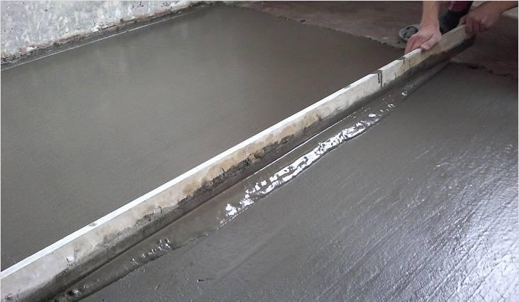 Заливной бетонный пол