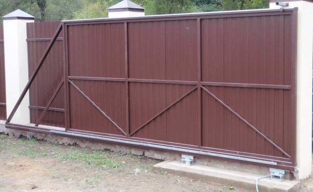 Вот такие ворота можно изготовить самому