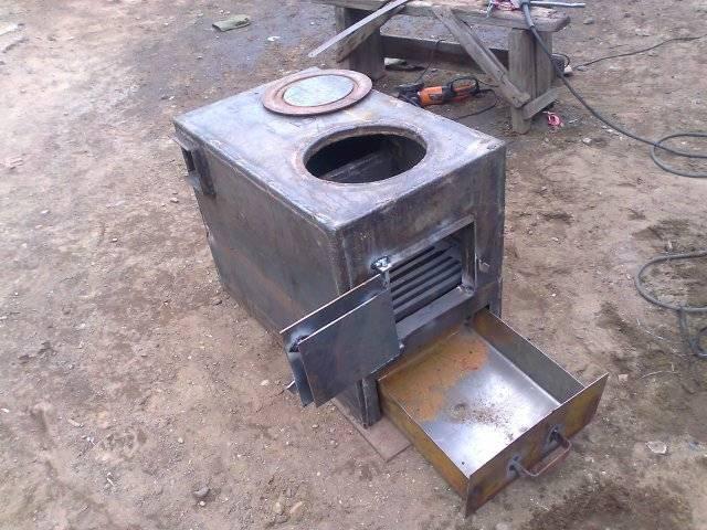 Печь для отопления можно сделать своими руками