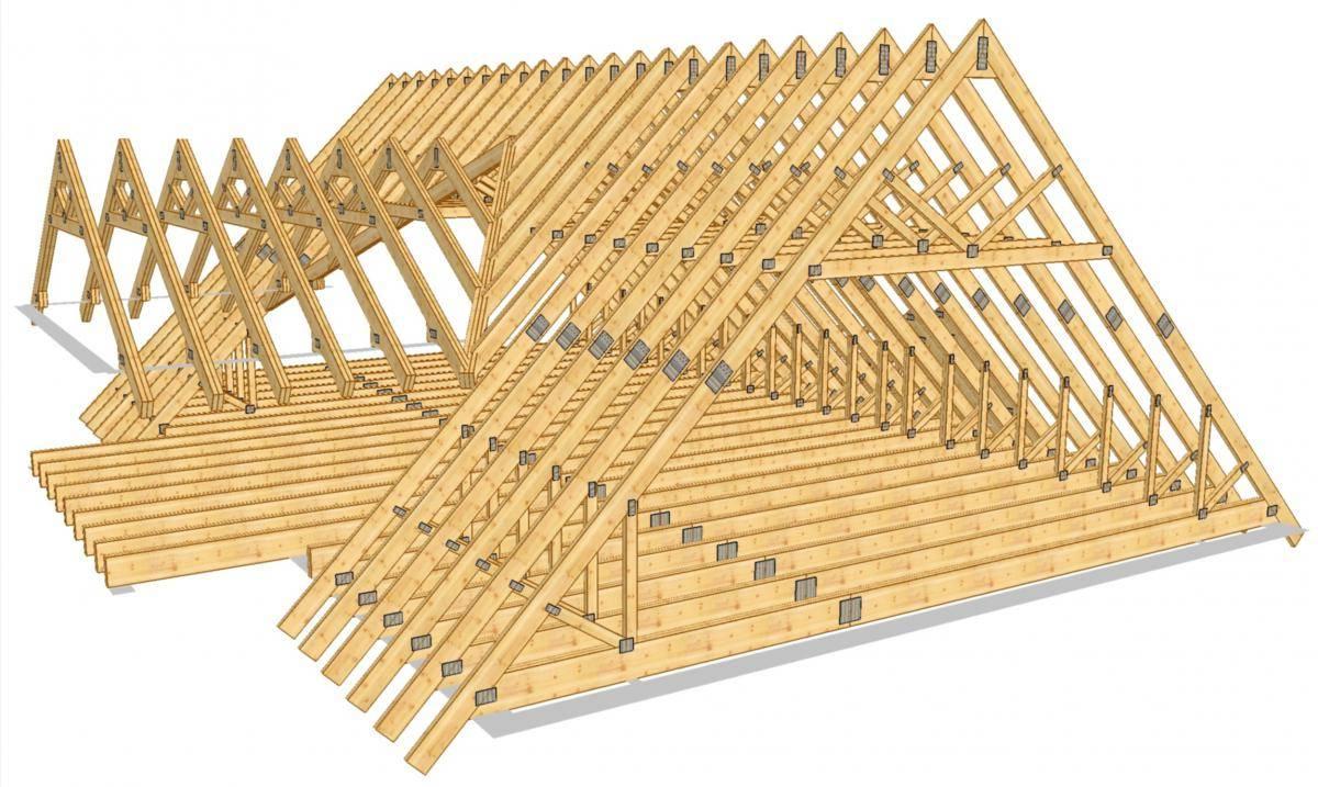 Монтаж двухскатная крыша своими руками