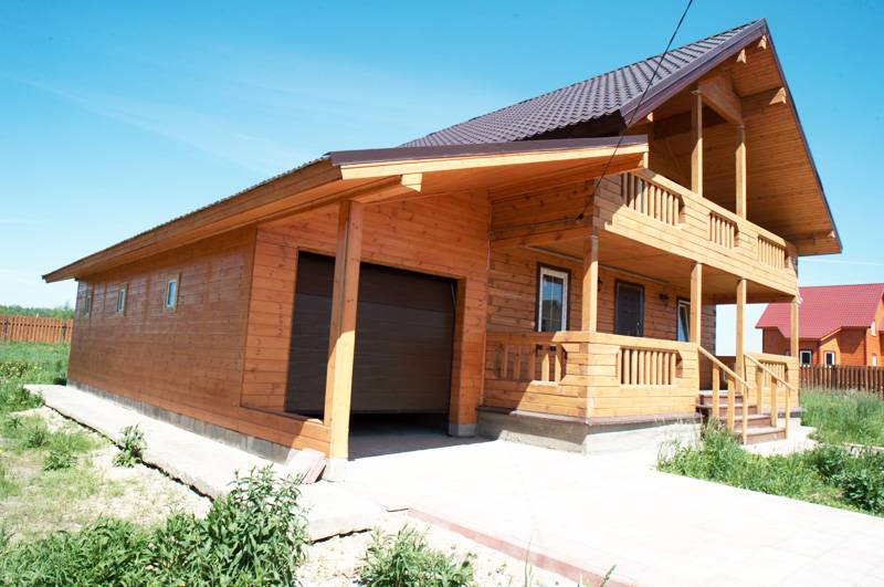 Деревянный дом с гаражом своими руками 725