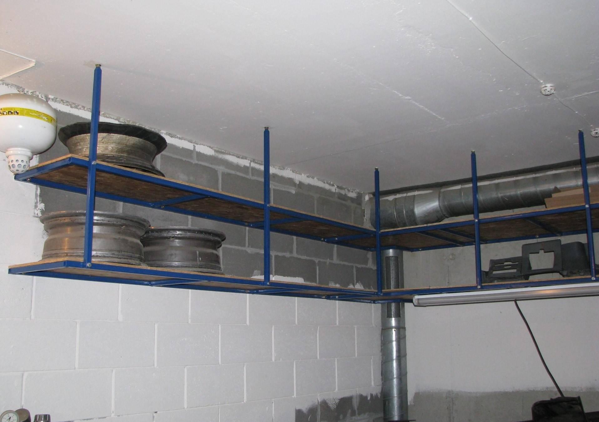 Все приспособления делают для экономии пространства гаража